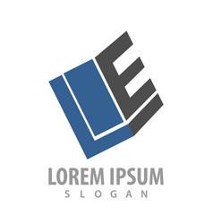 geometric initial letter le logo concept design vector image