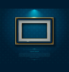 gold frame border picture thai art vector image