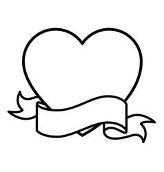 heart icon image vector image
