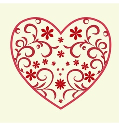 Heart pattern vector