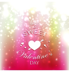 holiday with red hearts and sparkles Have a sweet vector image