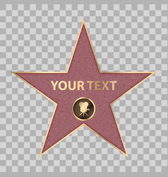 Hollywood star celebrity fame walk vector