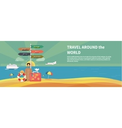 Icons set of traveling and planning vacation vector
