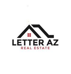 initial letter a and z real estate logo design vector image