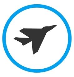 Intercepter Circled Icon vector image