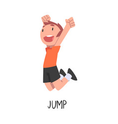 Jump word verb expressing action vector