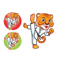 Karate Tiger vector