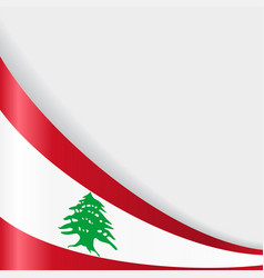 Lebanese flag background vector