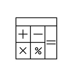 linear calculator icon vector image