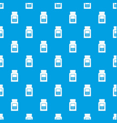 Medicine bottle pattern seamless blue vector