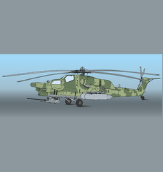 Mi 28 havoc military attack combat helicopter vector