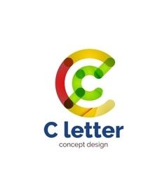 Modern minimalistic letter concept logo vector