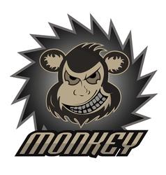 Monkey logo team professional logo vector image