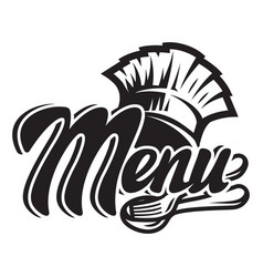 monochrome template for a menu with a chef vector image