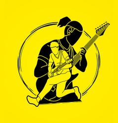 musician playing music togethermusic band artist vector image