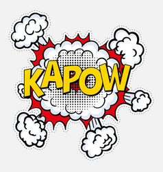 pop art style with halftone effect kapow vector image