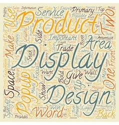 Popup Display Design Tips And Tricks text vector image