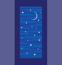 Postcard young moon stars festive invitation vector