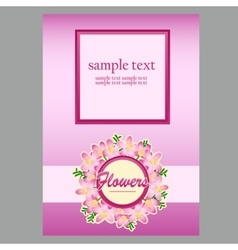 Poster for text in floral style light pink vector
