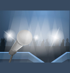 press conference concept background cartoon style vector image