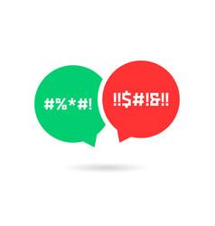 Quarrel with speech bubbles vector