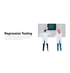 regression testing to ensure that previously vector image