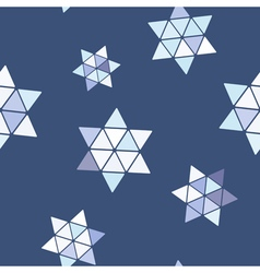 Seamless pattern with star of David vector