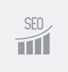 seo diagram growth icon vector image