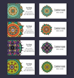 Set of templates for corporate style in vector image