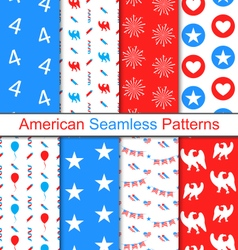 Set Seamless Pattern for Independence Day vector image