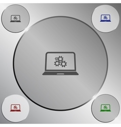 setting parameters laptop icon vector image