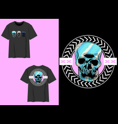 Skull with 3 eyes vector