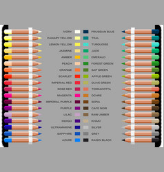 study well known artistic colors vector image