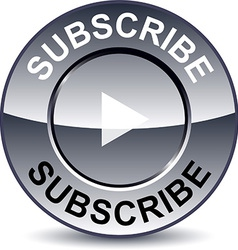 Subscribe round button vector