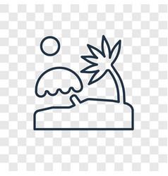 Sun bath concept linear icon isolated on vector