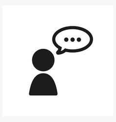 talk human icon in simple black design vector image