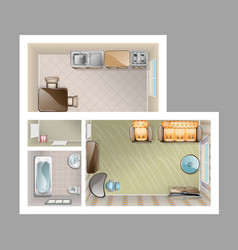 top view apartment interior vector image