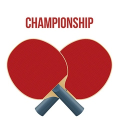 Two Rackets for playing table tennis isolated on vector image