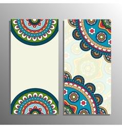 vertical mandala banner vector image