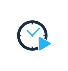 video time logo icon design vector image
