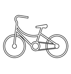Vintage bicycle symbol vector