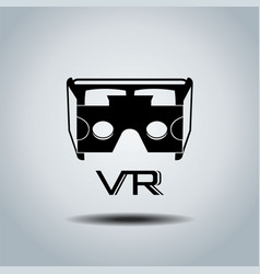 virtual reality headset icon flat design icon vector image