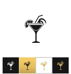 Cocktail glass sign like margarita icon vector image vector image