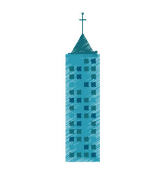 drawing building architecture structure vector image