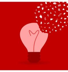Medicine a bulb2 vector image vector image
