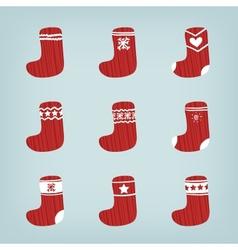Set of Christmas Stockings vector image