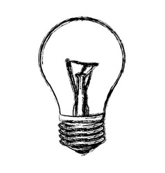 sketch of incandescent light bulb vector image