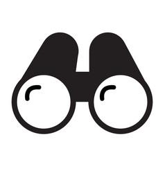 black binoculars icon vector image