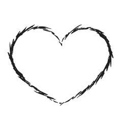black heart icon grunge 6 vector image