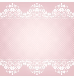card with lace border vector image vector image